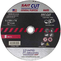 "9"" Abrasive Cut-Off Blade for Cordless Electric Saws"