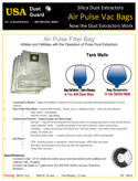 Air Pulse Bag - Price Brochure