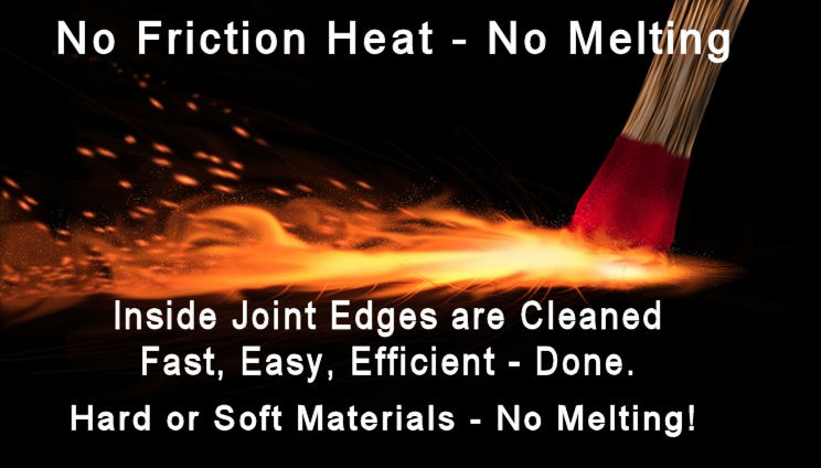 Minimal if any friction heat is created.